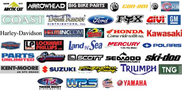 AC - ARCTIC CAT, AR - ARROWHEAD ELECTRIC, BBP - Big Bike Parts, SD - BRP, SD - Can - Am ATV/Spyder, CM - CMSI Inc, CO - COAST DIST, 