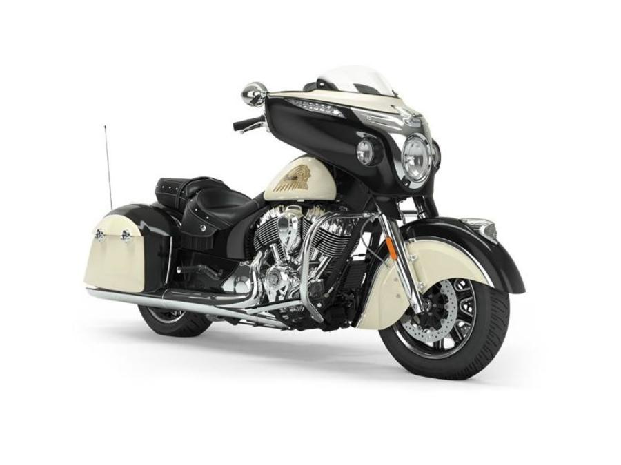 2019 Chieftain Classic Thunder Black / Ivory   N81074 - Click for larger photo