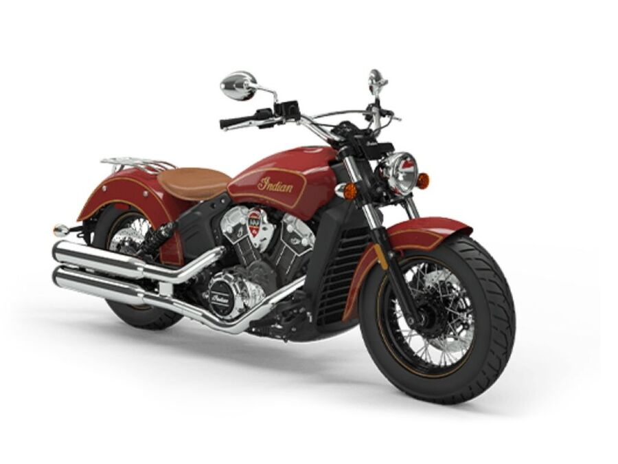 2020 Scout 100th Anniversary Indian Red with   IN5669 - Click for larger photo
